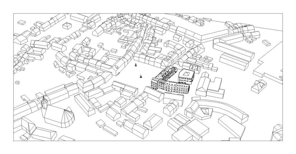 Die Hoyerswerda Altstadt als Gitternetzmodell