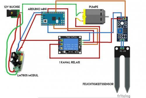 Pflanzenüberwachung mit Arduino